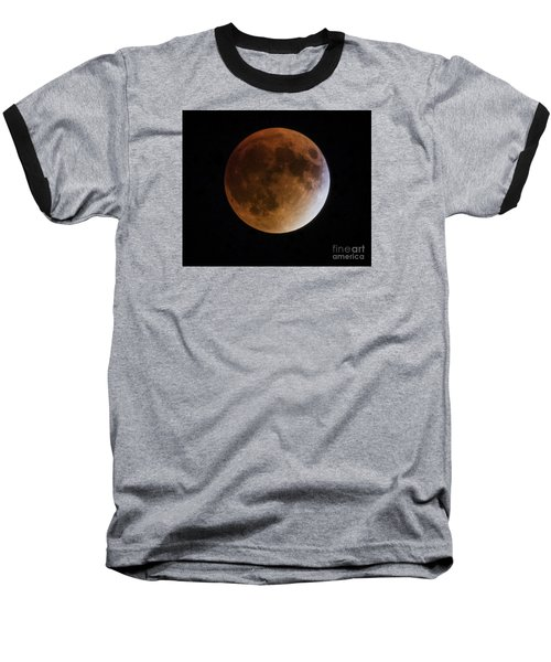 Super Blood Moon Lunar Eclipses Baseball T-Shirt by Ricky L Jones