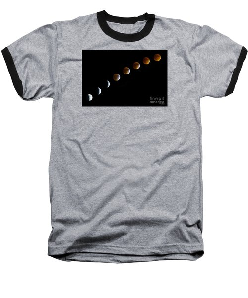 Super Blood Moon Time Lapse Baseball T-Shirt