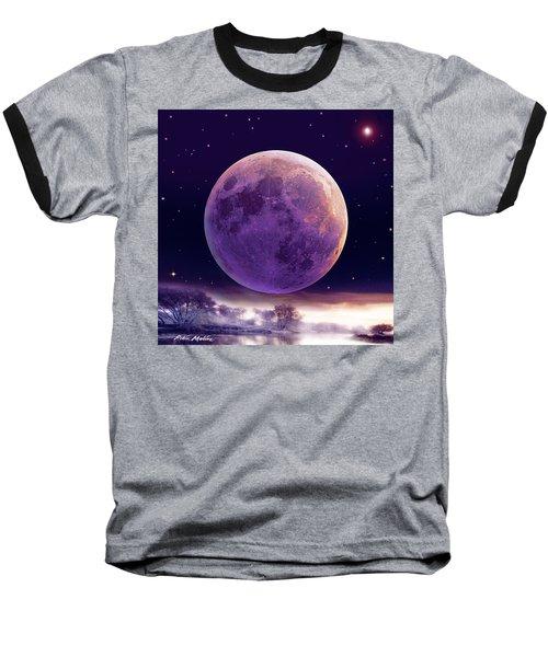 Super Cold Moon Over December Baseball T-Shirt