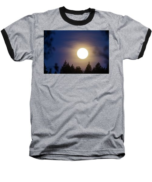 Super Full Moon Baseball T-Shirt