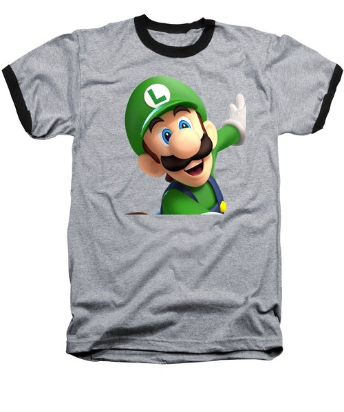Super Luigi Art Baseball T-Shirt