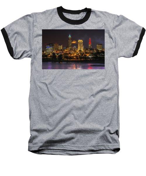 Super Moon 2016 Over Cleveland Baseball T-Shirt