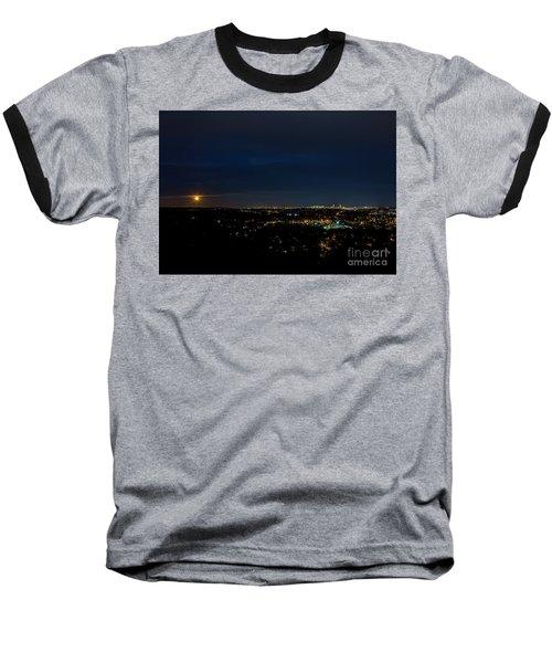 Super Moon 2016 Rises Over Boston Massachusetts Baseball T-Shirt by Diane Diederich