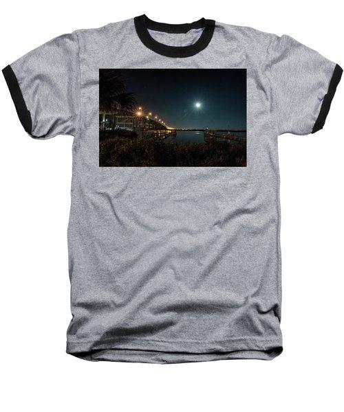 Super Moon And Bridge Lights Baseball T-Shirt