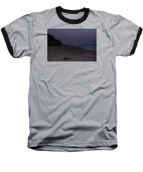 Super Moon At Downhill Beach Baseball T-Shirt