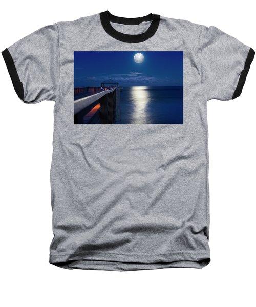 Baseball T-Shirt featuring the photograph Super Moon At Juno by Laura Fasulo