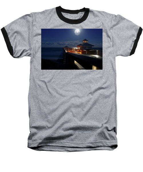 Super Moon At Juno Pier Baseball T-Shirt