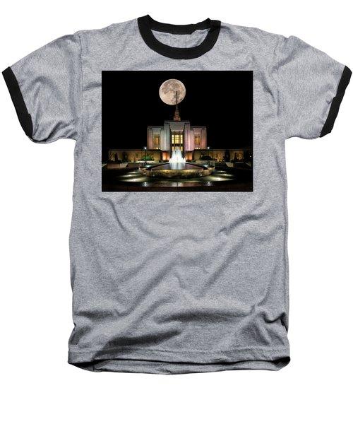 Super Moon At Ogden Lds Temple Baseball T-Shirt