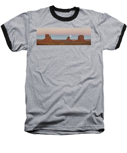 Super Moon In Monument Valley Baseball T-Shirt