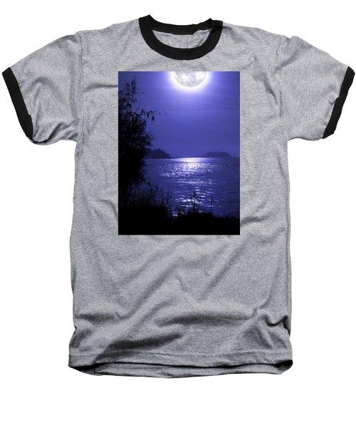 Baseball T-Shirt featuring the photograph Super Moon by Laura Ragland
