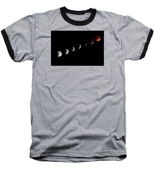 Baseball T-Shirt featuring the photograph Super Moon Lunar Eclipse by Barbara West