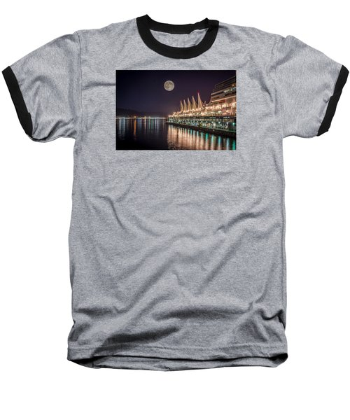 Super Moon Over Canada Place Baseball T-Shirt by Sabine Edrissi