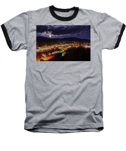 Super-moon Over Steamboat Baseball T-Shirt