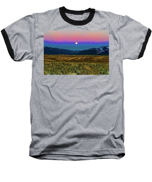 Super Moon Over Taos Baseball T-Shirt