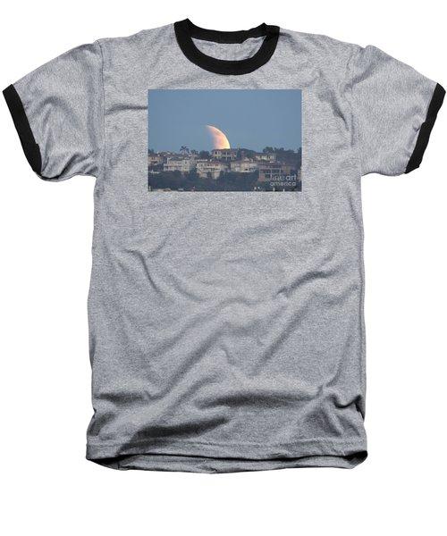 Super Moon Rise Baseball T-Shirt by Loriannah Hespe
