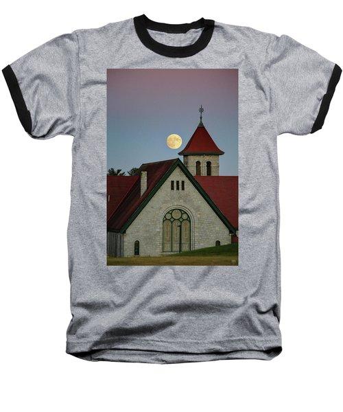 Super Moon Rising Baseball T-Shirt