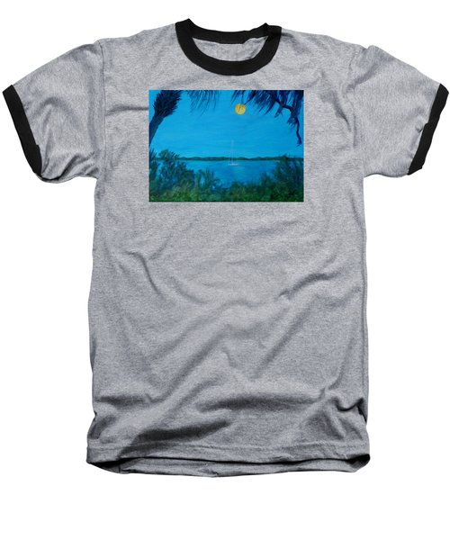 Super Moon Rising Baseball T-Shirt
