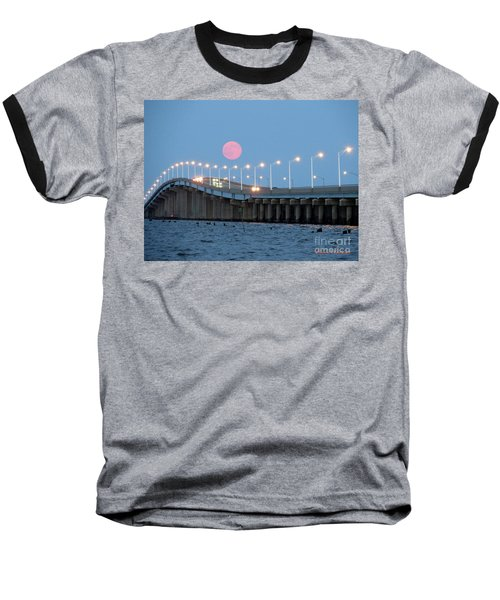 Super Moon  Baseball T-Shirt by Robert Henne