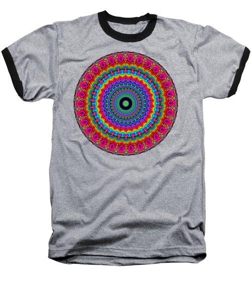 Super Rainbow Mandala Baseball T-Shirt