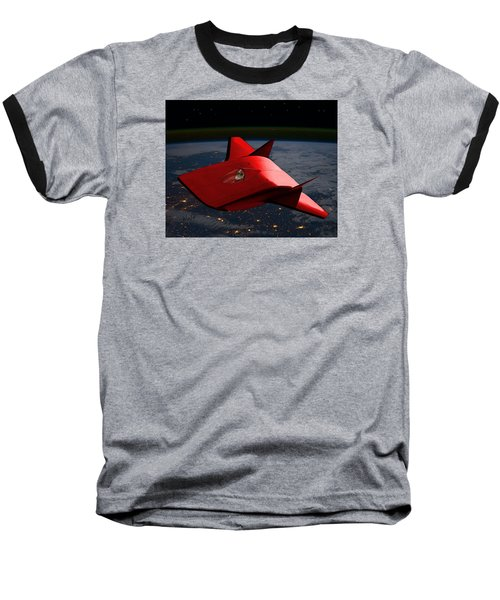 Baseball T-Shirt featuring the digital art Super Sleigh by Walter Chamberlain