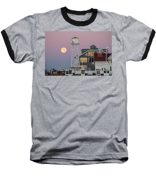 Super Wolf Moon At The Watch Tower Baseball T-Shirt
