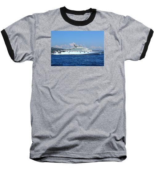 Baseball T-Shirt featuring the photograph Super Yacht by Richard Patmore