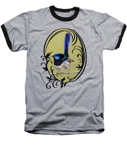 Superb Blue Wren Australian Bird Baseball T-Shirt
