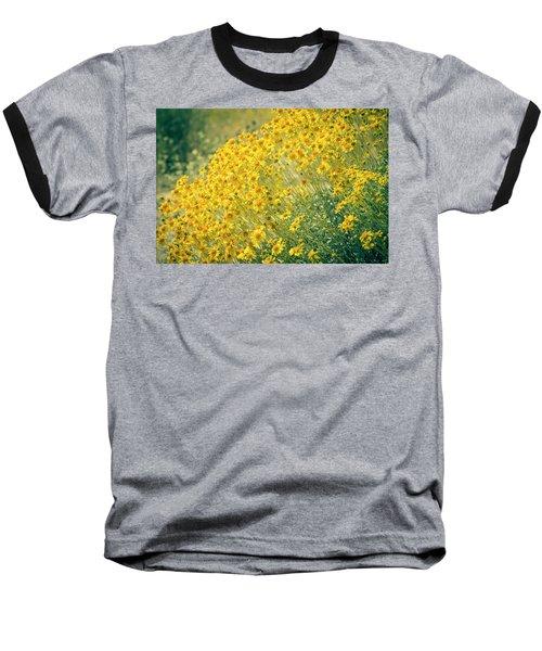 Superbloom Golden Yellow Baseball T-Shirt by Amyn Nasser