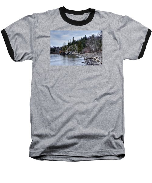 Baseball T-Shirt featuring the photograph Superior Cliffs by Larry Ricker