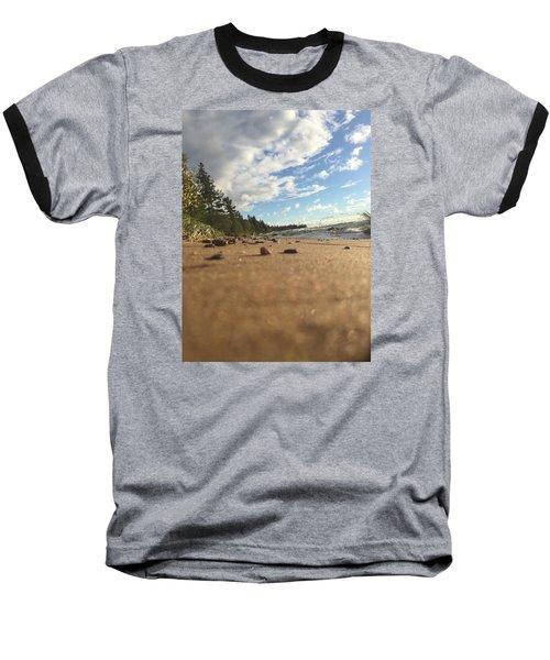 Baseball T-Shirt featuring the photograph Superior Shore by Paula Brown