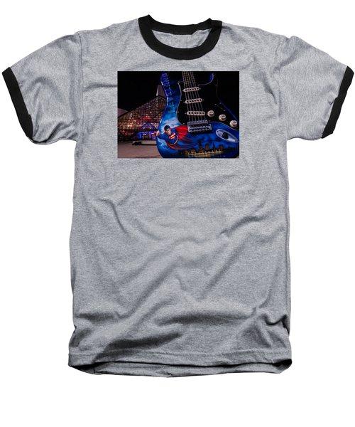 Superman Rocks Baseball T-Shirt