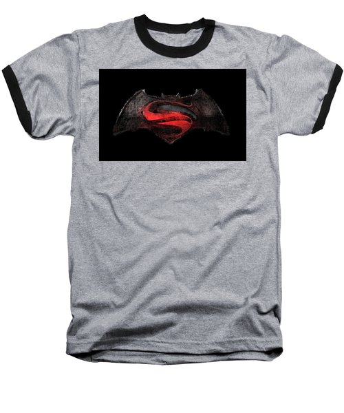 Superman Vs Batman Baseball T-Shirt