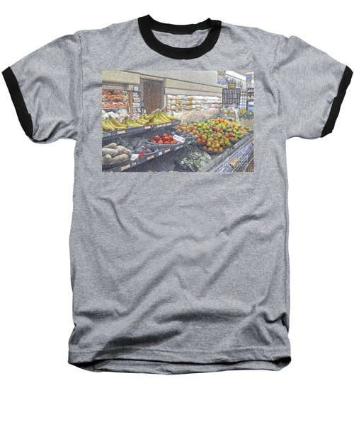 Baseball T-Shirt featuring the photograph Supermarket Produce Section by David Zanzinger