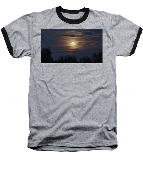 Supermoon Baseball T-Shirt