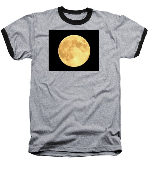 Supermoon Full Moon Baseball T-Shirt by Kyle West
