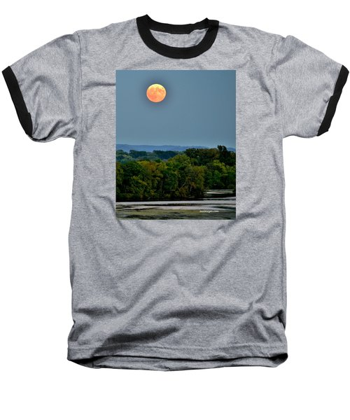 Supermoon On The Mississippi Baseball T-Shirt
