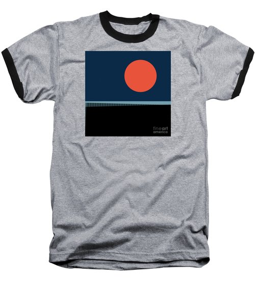 Baseball T-Shirt featuring the digital art Supermoon Over The Sea by Klara Acel