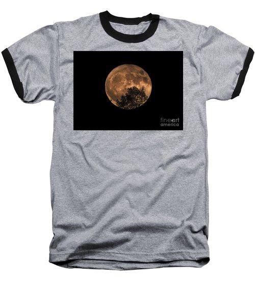 Supermoon Rising Baseball T-Shirt by Alana Ranney