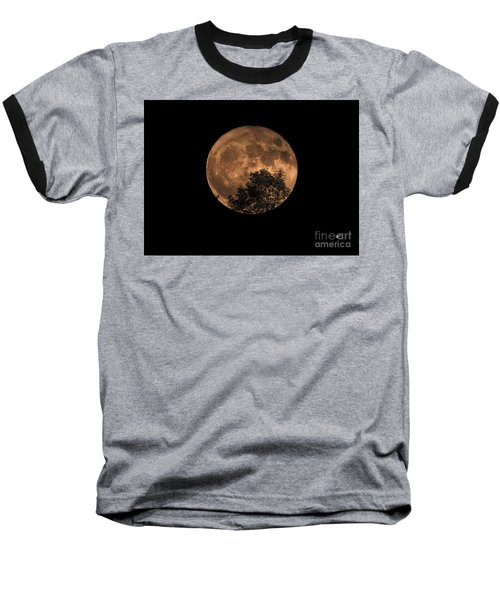 Supermoon Rising Baseball T-Shirt