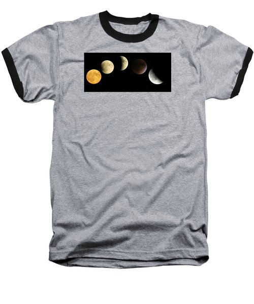 Supermoon Total Lunar Eclipse Baseball T-Shirt by Nikki McInnes