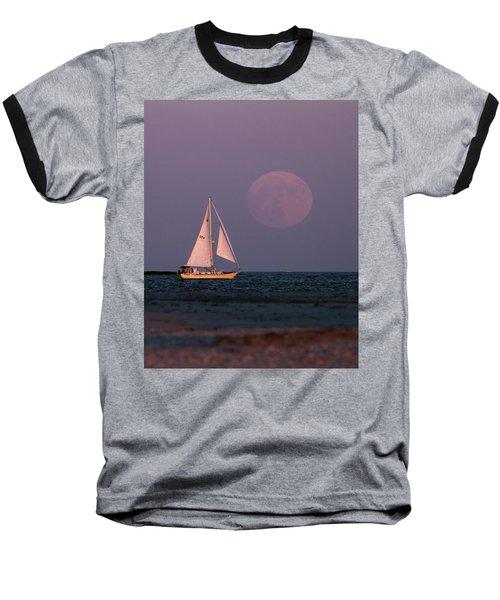 Supermoon Two Baseball T-Shirt by John Loreaux