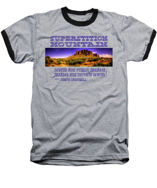 Superstition Mountains In Panorama Late Afternoon Baseball T-Shirt