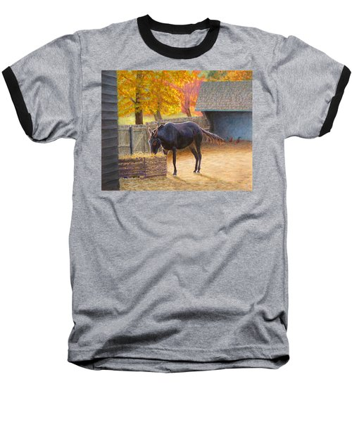 Baseball T-Shirt featuring the painting Supper Time by Joe Bergholm
