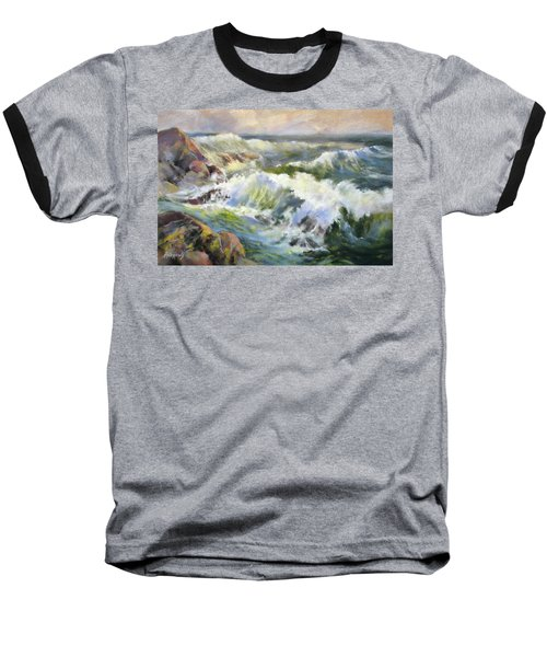 Surf Action Baseball T-Shirt by Rae Andrews