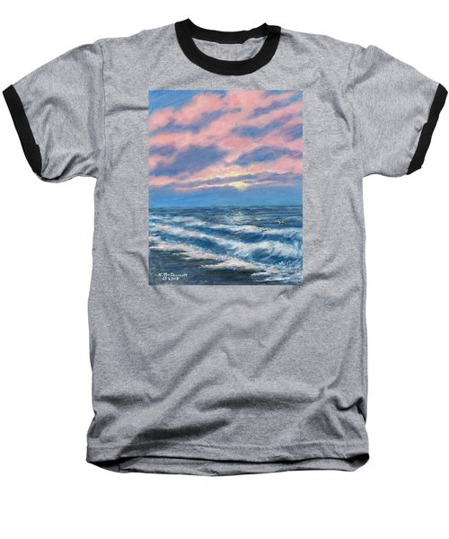 Surf And Clouds Baseball T-Shirt by Kathleen McDermott