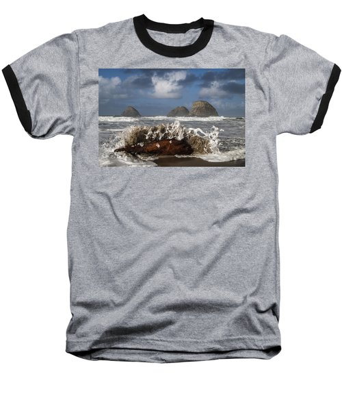 Surf And Three Arch Rocks Baseball T-Shirt