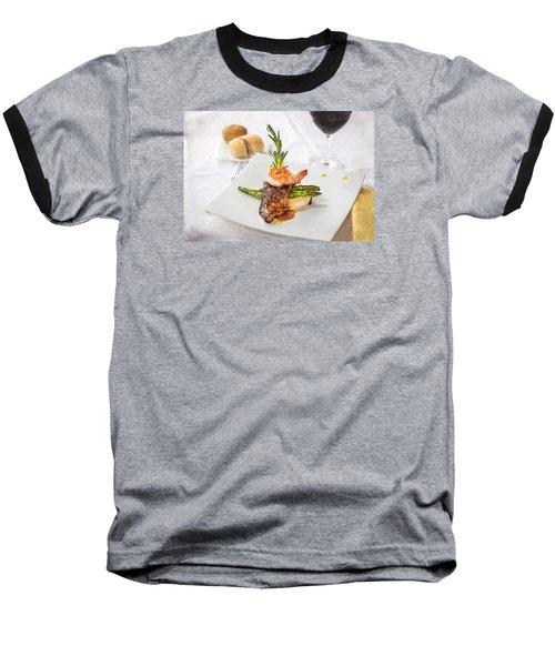 Surf And Turf Baseball T-Shirt by Rich Franco