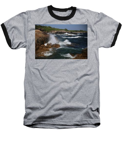 Surf At Biddeford Pool Baseball T-Shirt