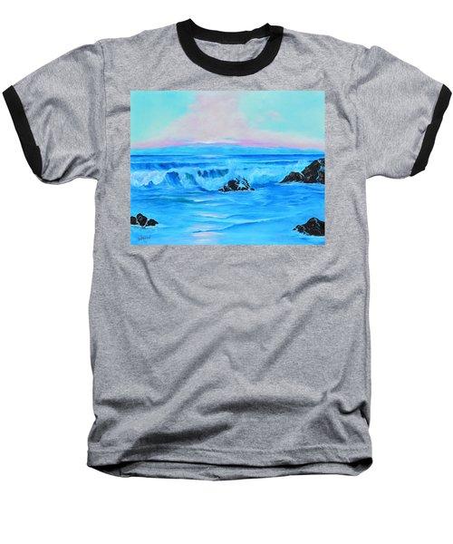 Surf At Sunset  Baseball T-Shirt by Lloyd Dobson