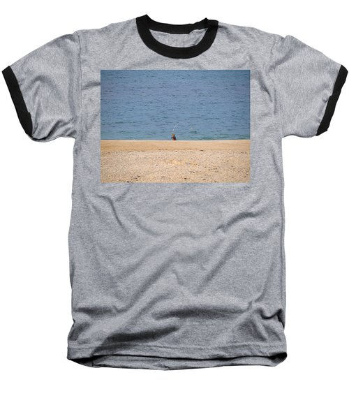 Baseball T-Shirt featuring the photograph Surf Caster by  Newwwman